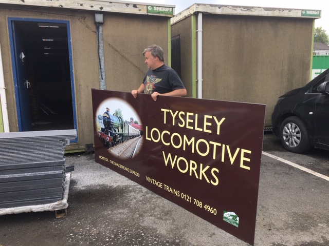 The new sign arriving at Tyseley