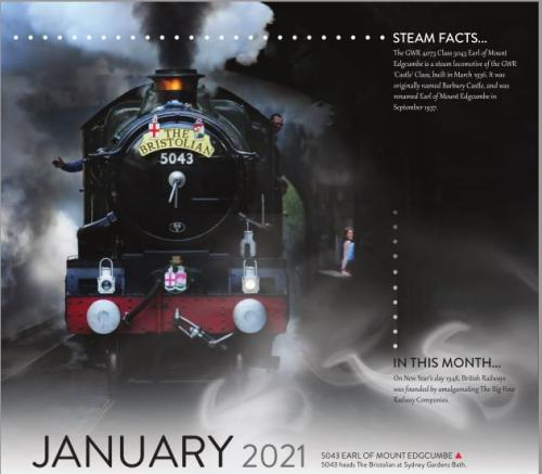 Calendar 2021 January image