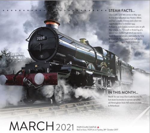 Calendar 2021 March image