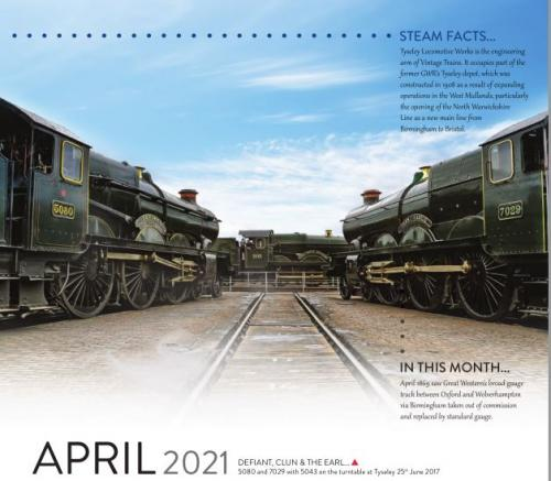 Calendar 2021 April image