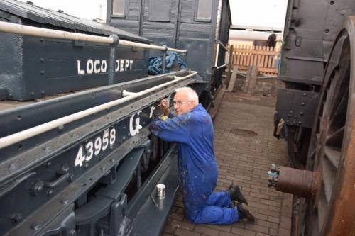 Lettering the GWR Shunters Truck 43958 in 2018