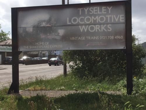 The old Tyseley Locomotive Works sign