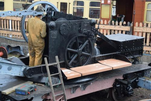 Restoration work on Travelling Hand Crane No.438 is currently ongoing