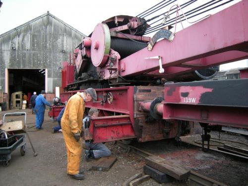 Working on the steam crane