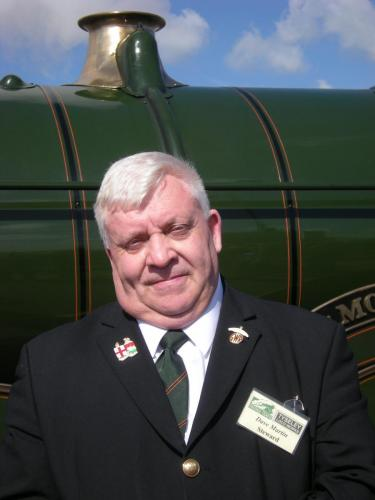 One of our volunteers on the Shakespeare Express at Stratford on Avon