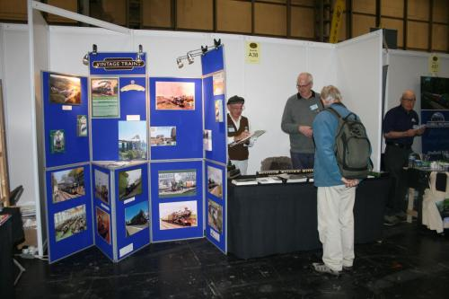 Spreading the word at the Warley Model Railway Exhibition at the Birmingham NEC