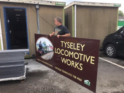 Replacement sign for Tyseley Locomotive Works